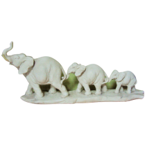Three elephants poliresin for decoration