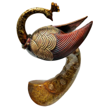 Peacock poliresin figure