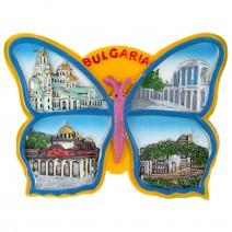 Souvenir magnet - butterfly BG