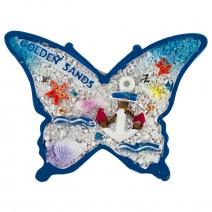 Magnet souvenir - Gold sands - butterfly