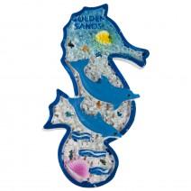 Magnet souvenir - Golden Sands - Seahorse