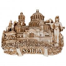 Magnet souvenir white - Sofia - 2
