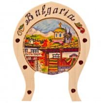 Magnet with landscape Bulgaria - horseshoe
