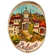 Magnet with landscape Bulgaria - stump