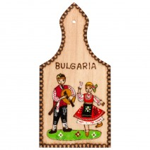 Magnet with pyrography Bulgaria - bread-board