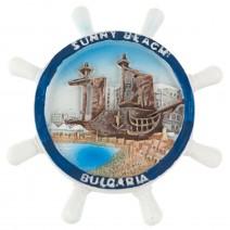 Magnet souvenir  Sunny Beach rudder