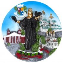 Magnet souvenir - a small plate of Sofia