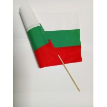BG flag middle one with handle 30 x 50 cm
