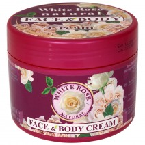 Face and body cream White rose