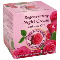 Rose Natural Night Cream with rose oil and rose water