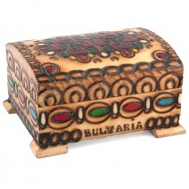 Wooden box - middle one with pyrography