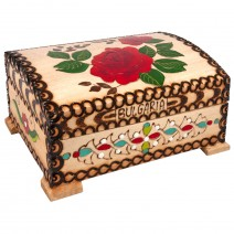 Wooden box - big one with pyrography