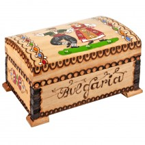 Wooden box - middle screen with pyrography