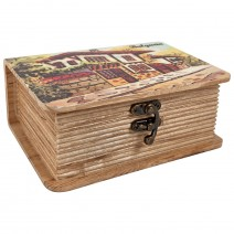 Wooden Box - Printed Book - Set of 2 pieces