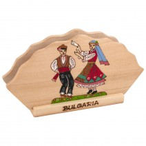 Wooden napkin holder with pyrography Bulgaria