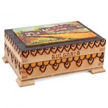 Big souvenir box with pyrography