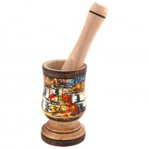 Wood mortar - middle - painted