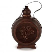 Wooden wine vessel with thread - 0,250 liter