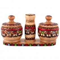 Wooden Salt@pepper pair - pyrography