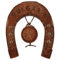 Wooden horseshoe with carving - 18 cm