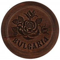 Wooden plate with carving - 10 cm