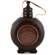 Wooden wine vessel with thread and copper insert - 1 liter