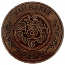 Wooden plate with carving - 18 cm
