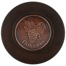 Wooden plate with copper insert - 20 cm