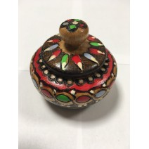 Wooden covered salt@pepper - middle size with pyrography