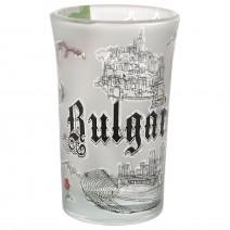 Glass souvenir mini glass shot - collage Bulgaria