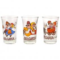 Glass souvenir cup - fun folklore
