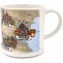 Ceramic souvenir mug with collage Bulgaria