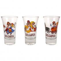 Glass souvenir cup - fun folklore - 9 cm