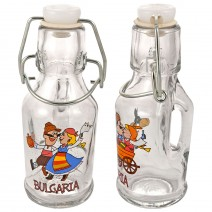 Glass souvenir bottles with handle - set 2pcs. - fun folklore