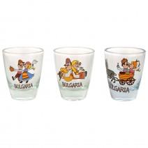 Glass souvenir mini glass shot - fun folklore - 5 cm