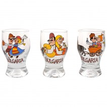 Glass souvenir shot Tulip - funny folklore - 8 cm