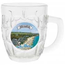 Glass beer mug big size with different resorts views