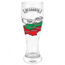 Large glass beer souvenir - Bulgaria