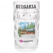 Glass souvenir beer mug  - different resorts