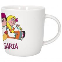 Porcelain souvenir cup - fun folklore