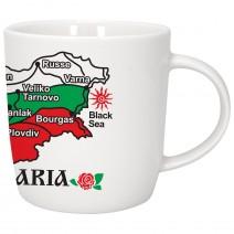 Porcelain souvenir cup - map of Bulgaria
