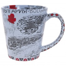 Ceramic souvenir cup with collage Black Sea