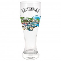 Large glass beer souvenir - different resorts
