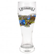 Large glass beer souvenir - North and South Black Sea Coast and Bulgaria