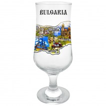 Glass Beer Souvenir - north and south of seaside and Bulgaria
