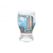 Glass souvenir cup Tulip - 8 cm - different resorts views