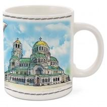 Porcelain mug souvenir cup - medium with different resorts
