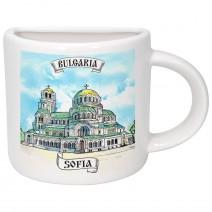 Porcelain souvenir cup - half - different resorts
