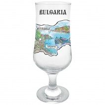 Glass beer souvenir - different views from Bulgaria