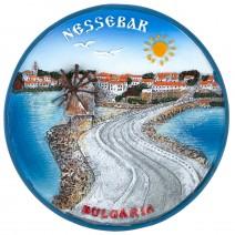 Souvenir plate Nessebar - 14 cm